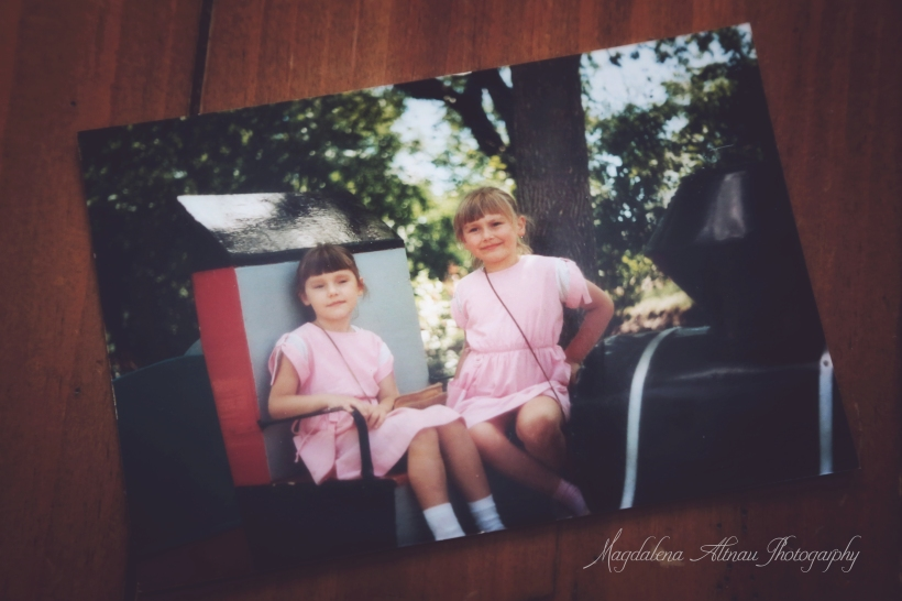 I'm the blonde ... with my younger sister ... oh so many years ago!